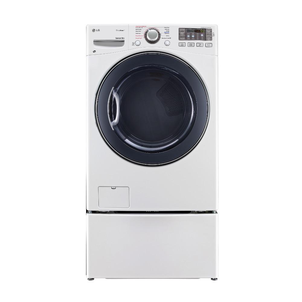 LG Appliances Dryers 7.4 Cu. Ft. Front Load Gas Steam Dryer - Item Number: DLGX3571W