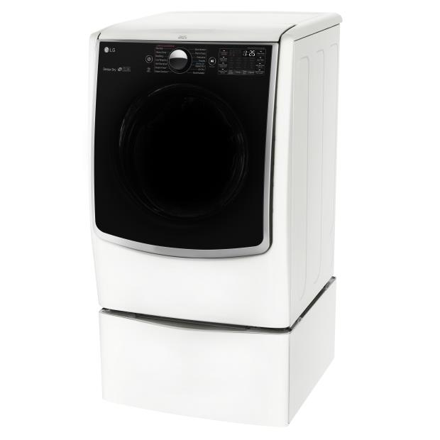 LG Appliances Dryers 7.4 Cu. Ft. Capacity TurboSteam® Gas Dryer - Item Number: DLGX5001W