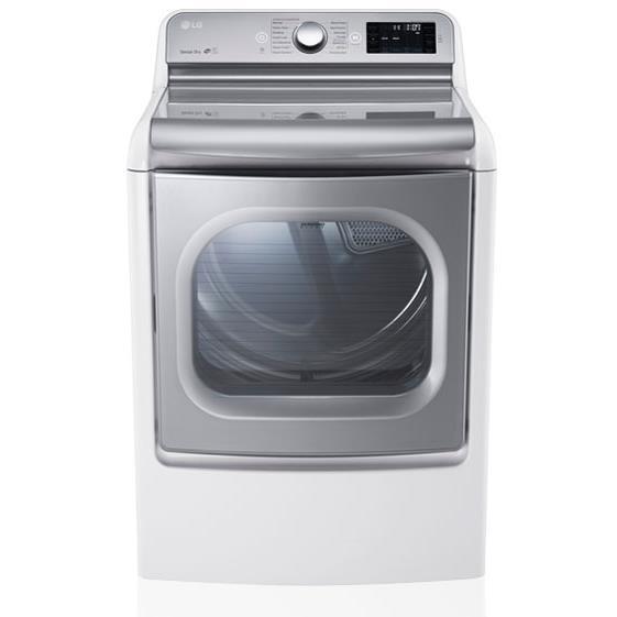 LG Appliances Dryers 9.0 Cu. Ft. Capacity Gas Steam Dryer - Item Number: DLGX7701WE