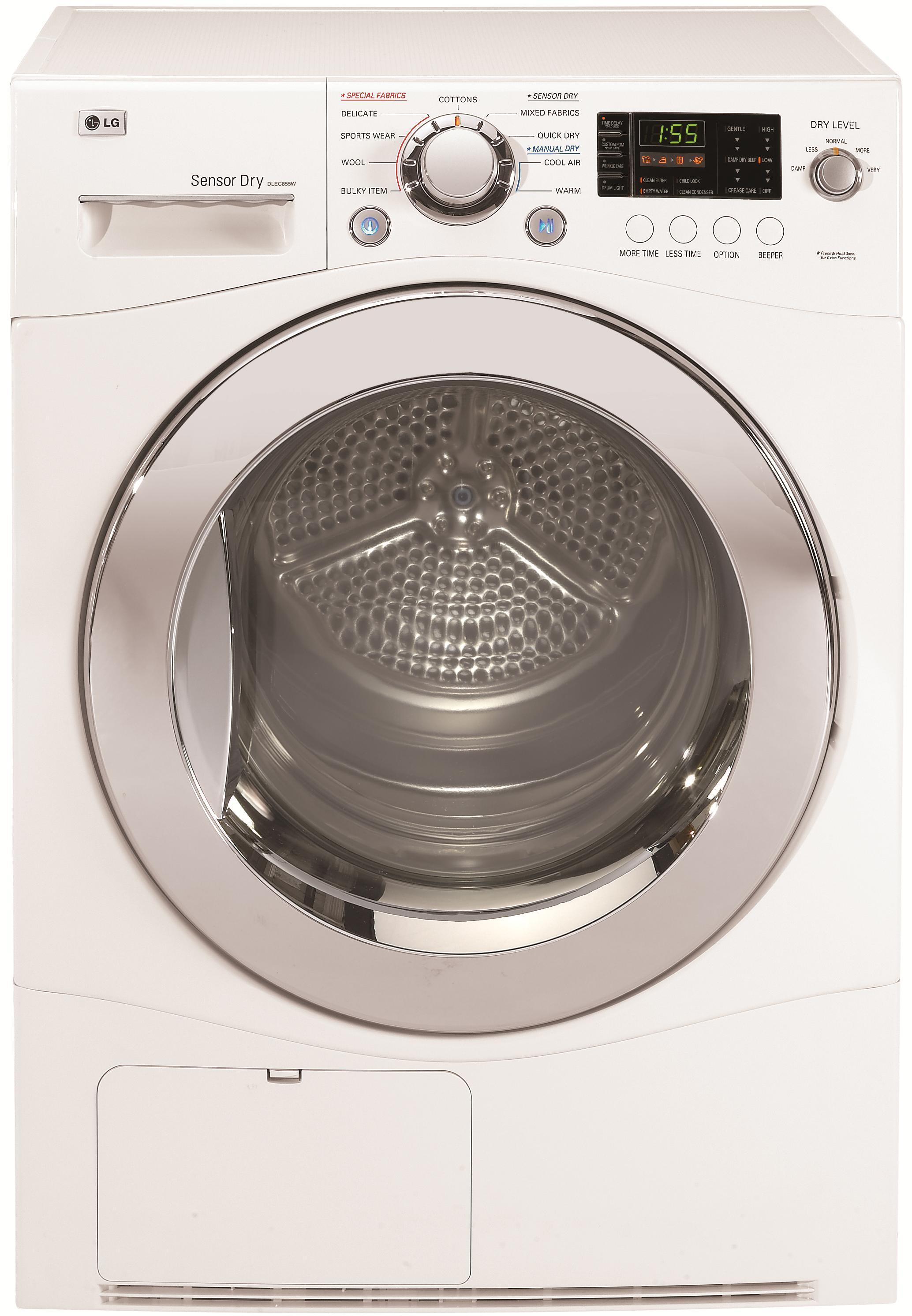 LG Appliances Electric Dryers 4.2 Cu. Ft. Electric Front-Load Dryer - Item Number: DLEC855W