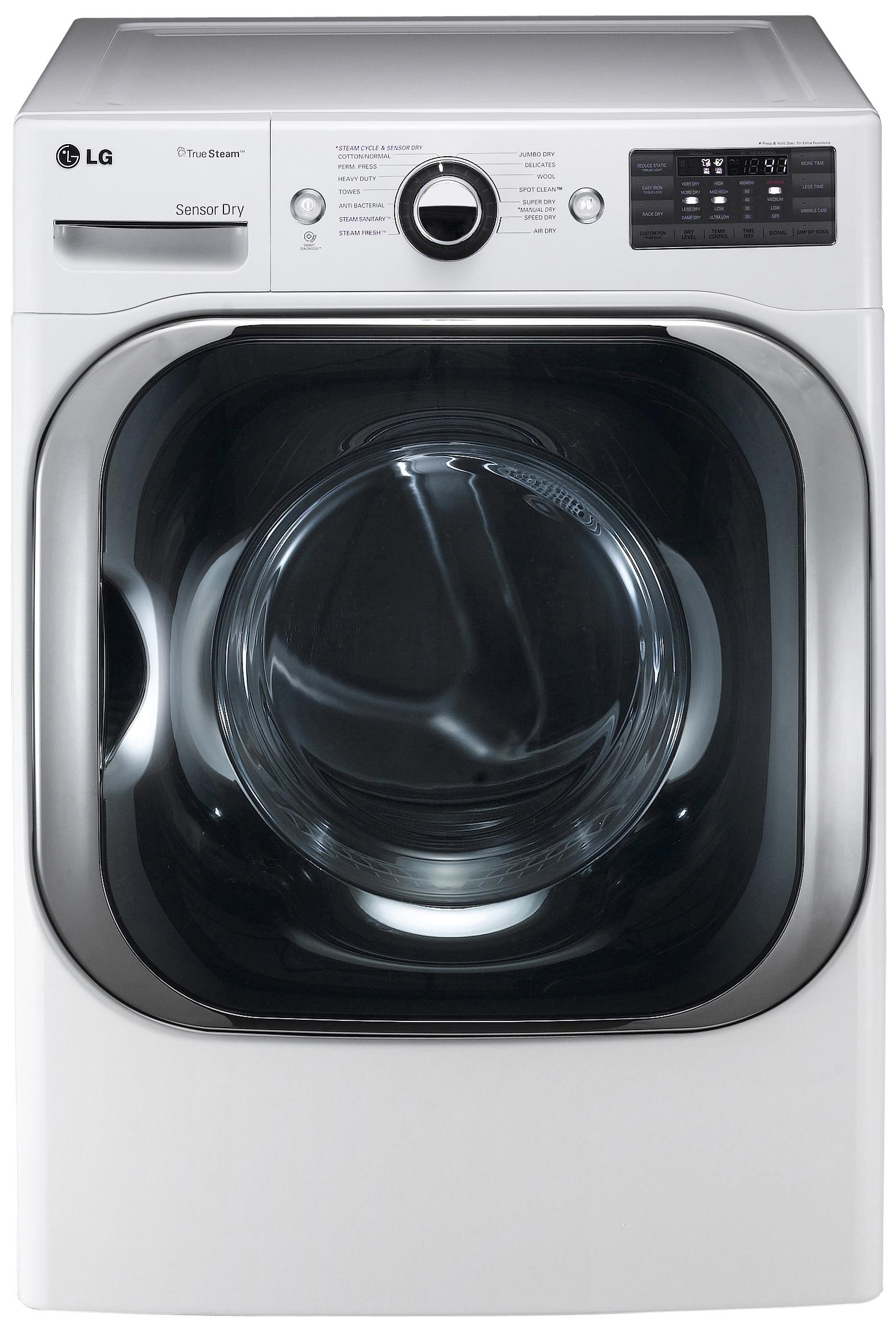 LG Appliances Electric Dryers 9.0 Cu. Ft. Front-Load Electric Dryer - Item Number: DLEX8000W