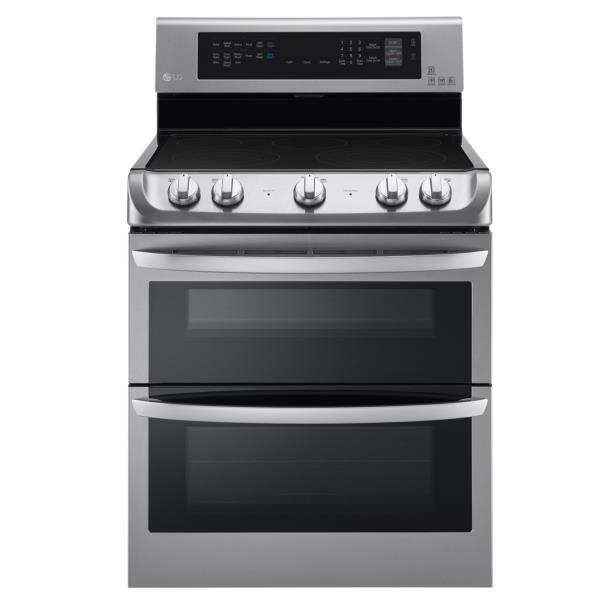 LG Appliances Electric Ranges 7.3 Cu. Ft. Electric Double Oven Range - Item Number: LDE4413ST