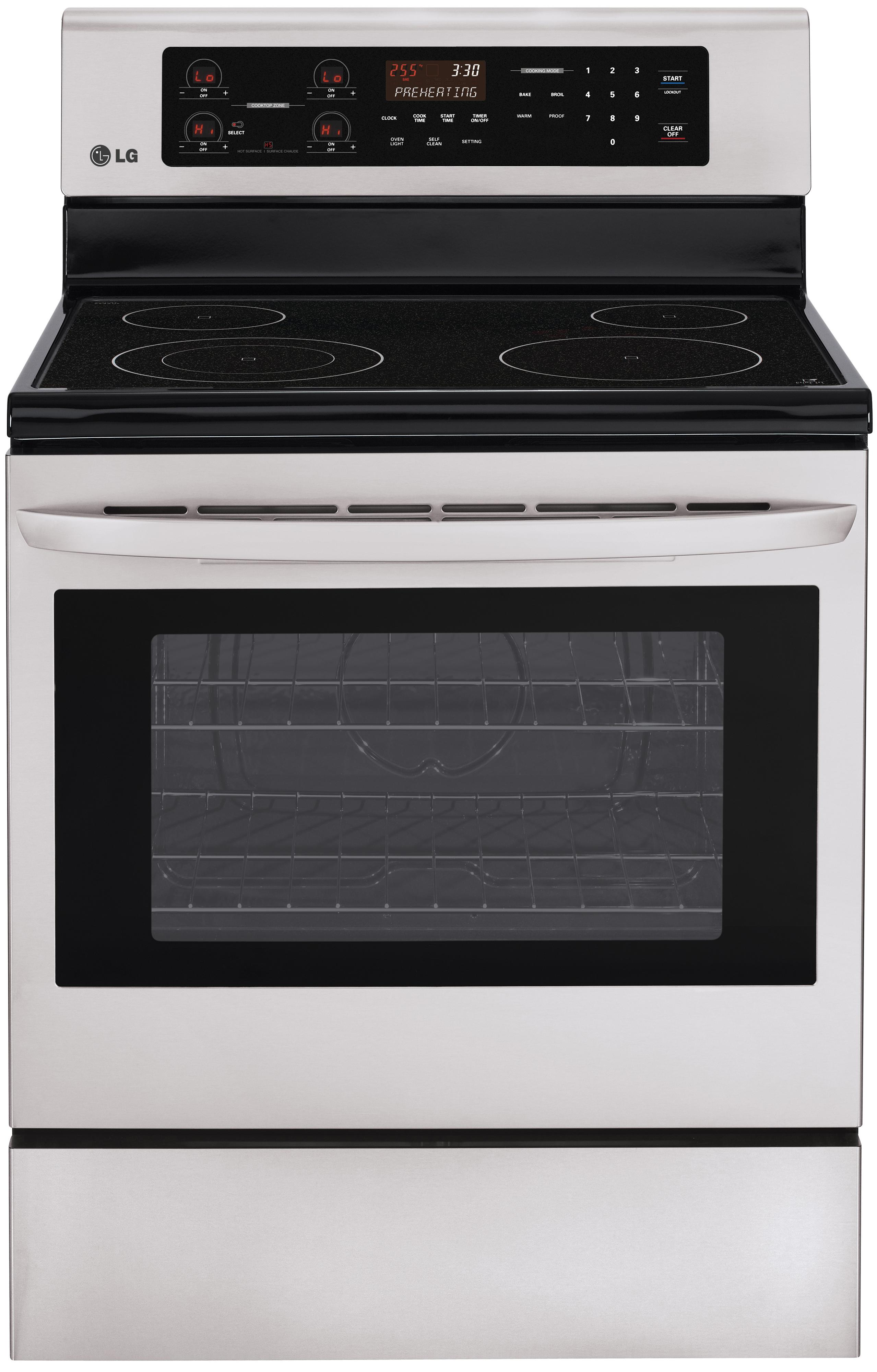 "LG Appliances Electric Ranges 30"" Freestanding Electric Range - Item Number: LRE3021ST"
