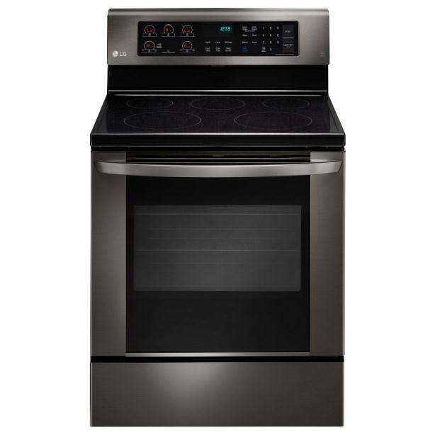 LG Appliances Electric Ranges 6.3 cu. ft. Single Oven Electric Range - Item Number: LRE3061BD