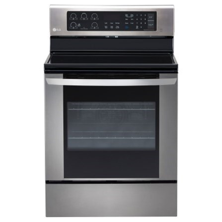 LG Appliances Electric Ranges 6.3 cu. ft. Single Oven Electric Range - Item Number: LRE3061ST