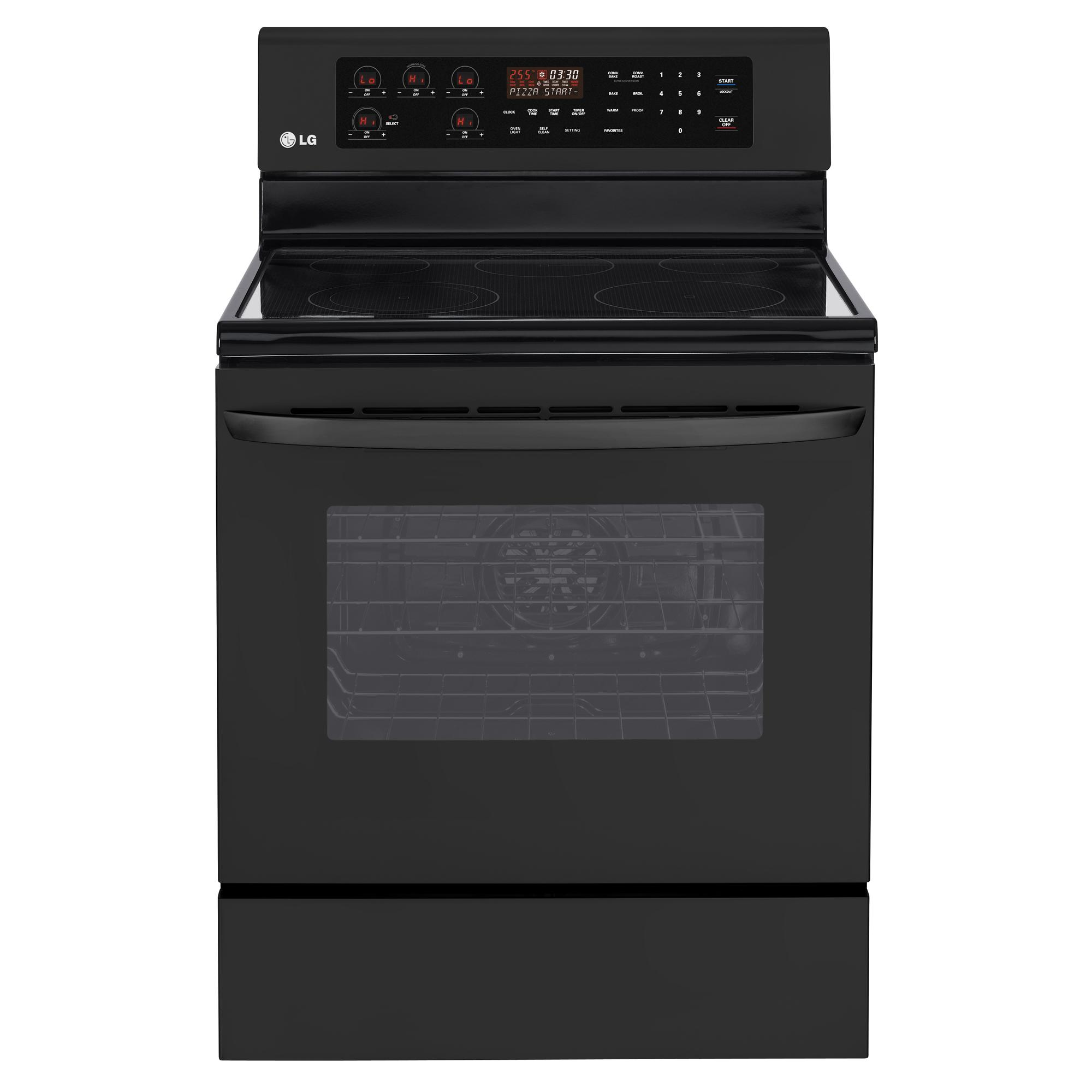 "LG Appliances Electric Ranges 30"" Freestanding Electric Range - Item Number: LRE3083SB"