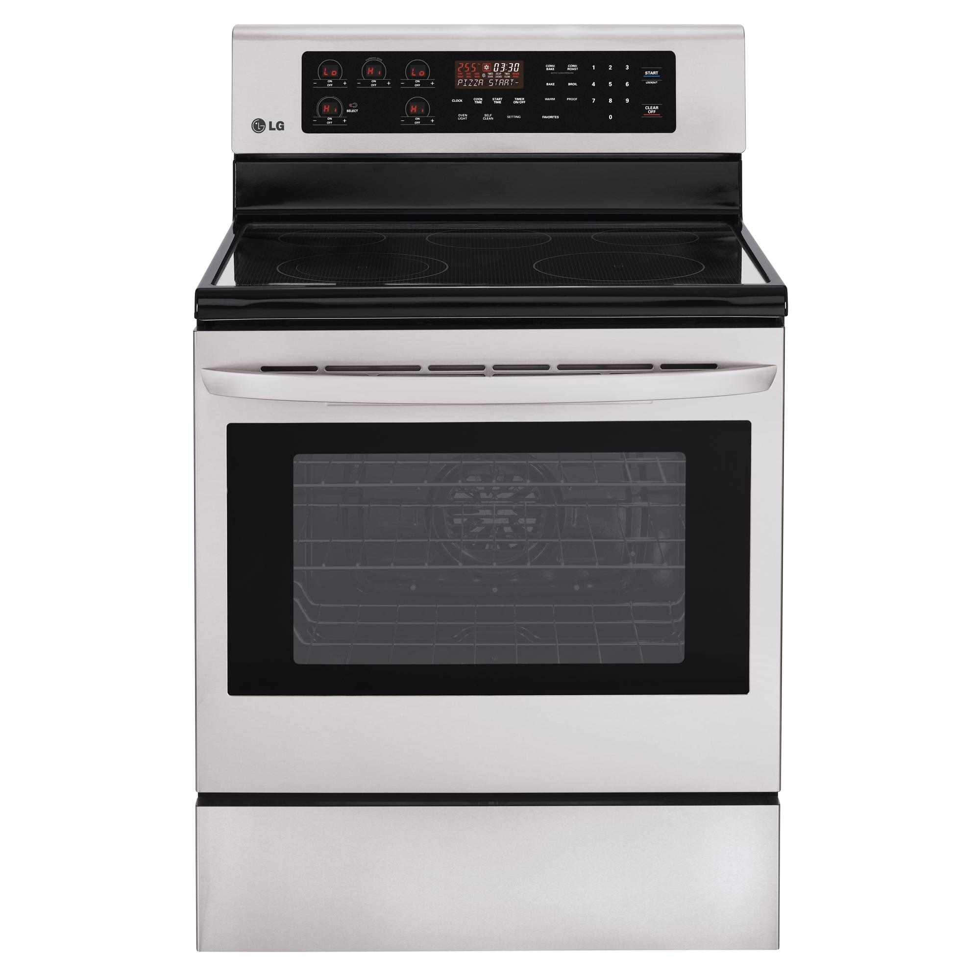 "LG Appliances Electric Ranges 30"" Freestanding Electric Range - Item Number: LRE3083ST"