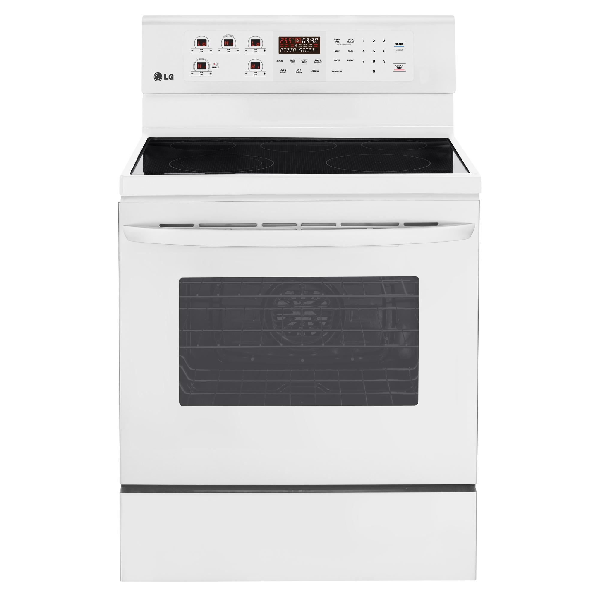 "LG Appliances Electric Ranges 30"" Freestanding Electric Range - Item Number: LRE3083SW"