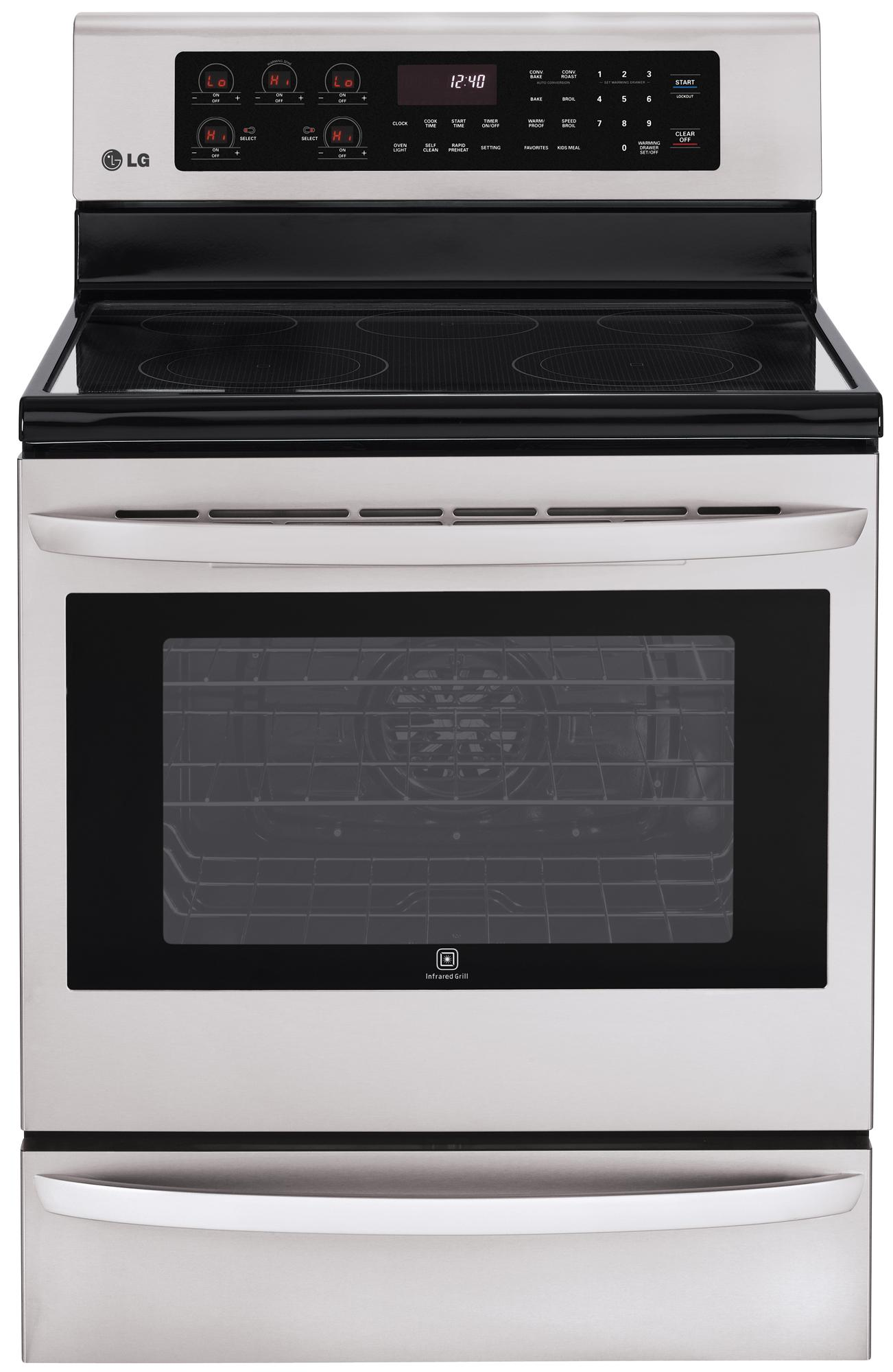 "LG Appliances Electric Ranges 30"" Freestanding Electric Range - Item Number: LRE3085ST"