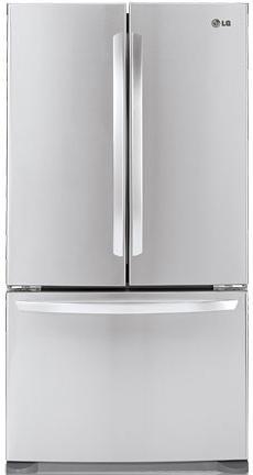 LG Appliances French Door Refrigerators 20.7 Cu. Ft. French Door Refrigerator - Item Number: LFC21776ST