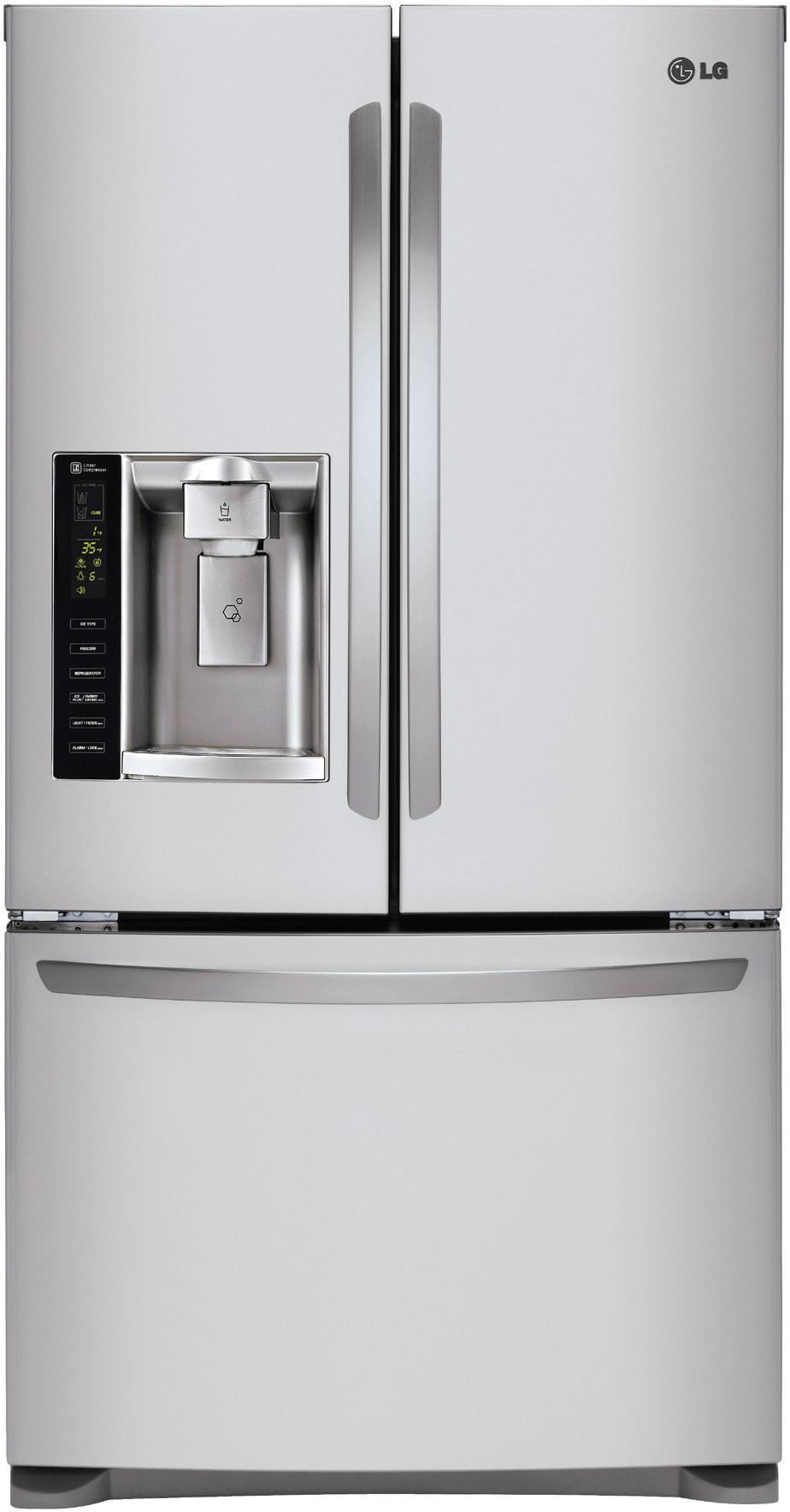 LG Appliances French Door Refrigerators 24.7 Cu. Ft. French Door Refrigerator - Item Number: LFX25973ST
