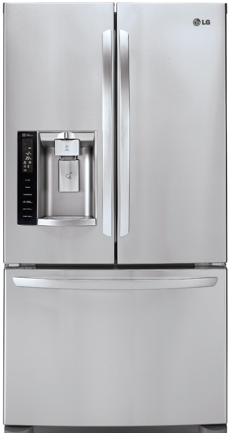LG Appliances French Door Refrigerators 28 Cu. Ft. French Door Refrigerator - Item Number: LFX28968ST