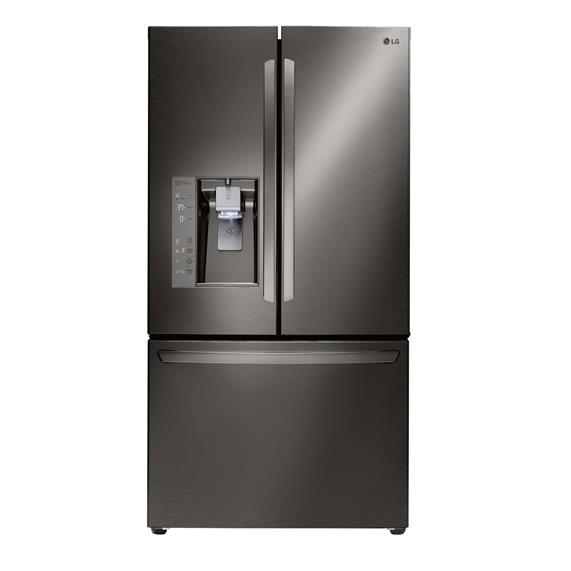 LG Appliances French Door Refrigerators 24 Cu. Ft. Counter Depth French Door Fridge - Item Number: LFXC24726D