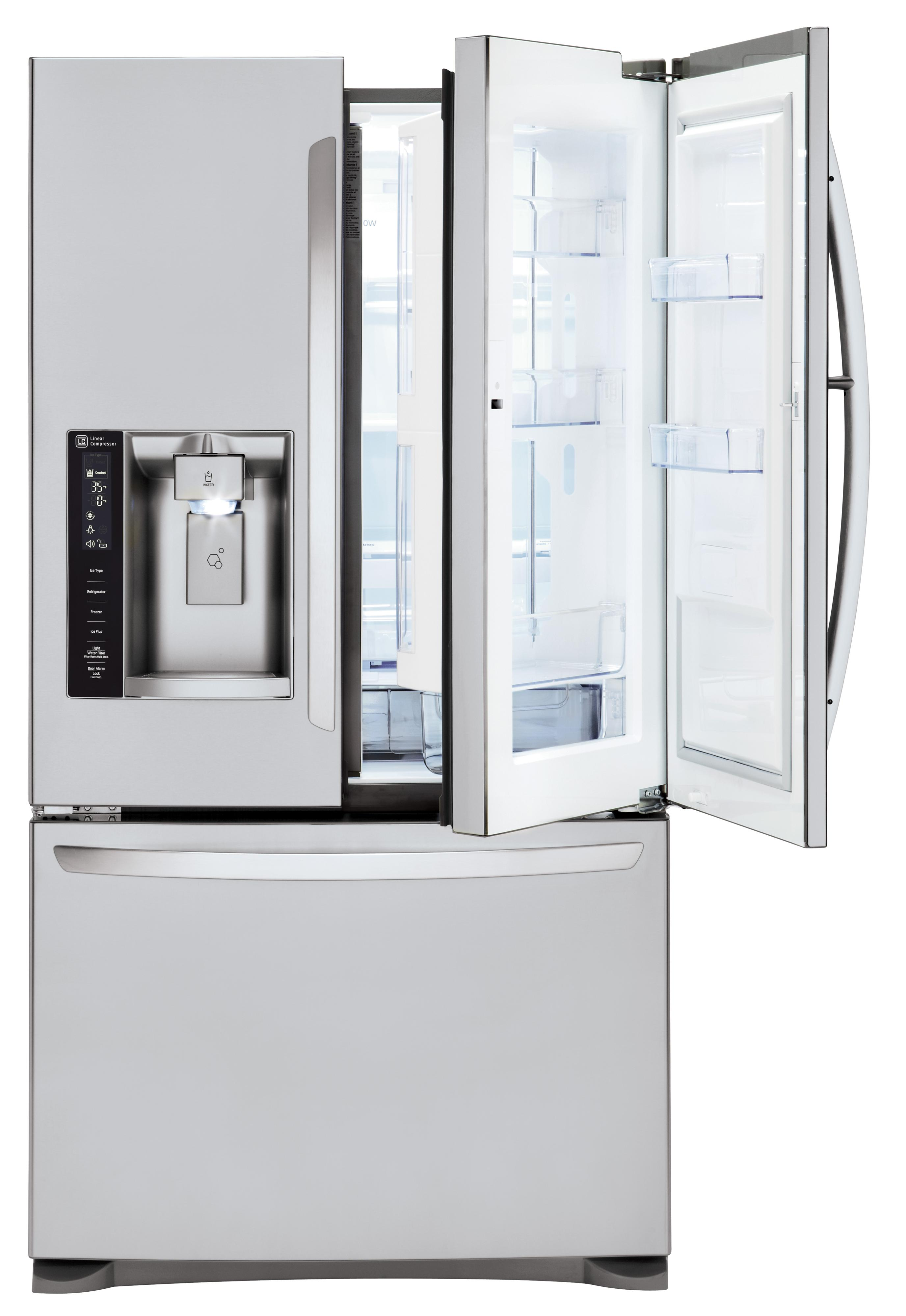 LG Appliances French Door Refrigerators 24 Cu. Ft 3 Door French Door Fridge - Item Number: LFXS24566S