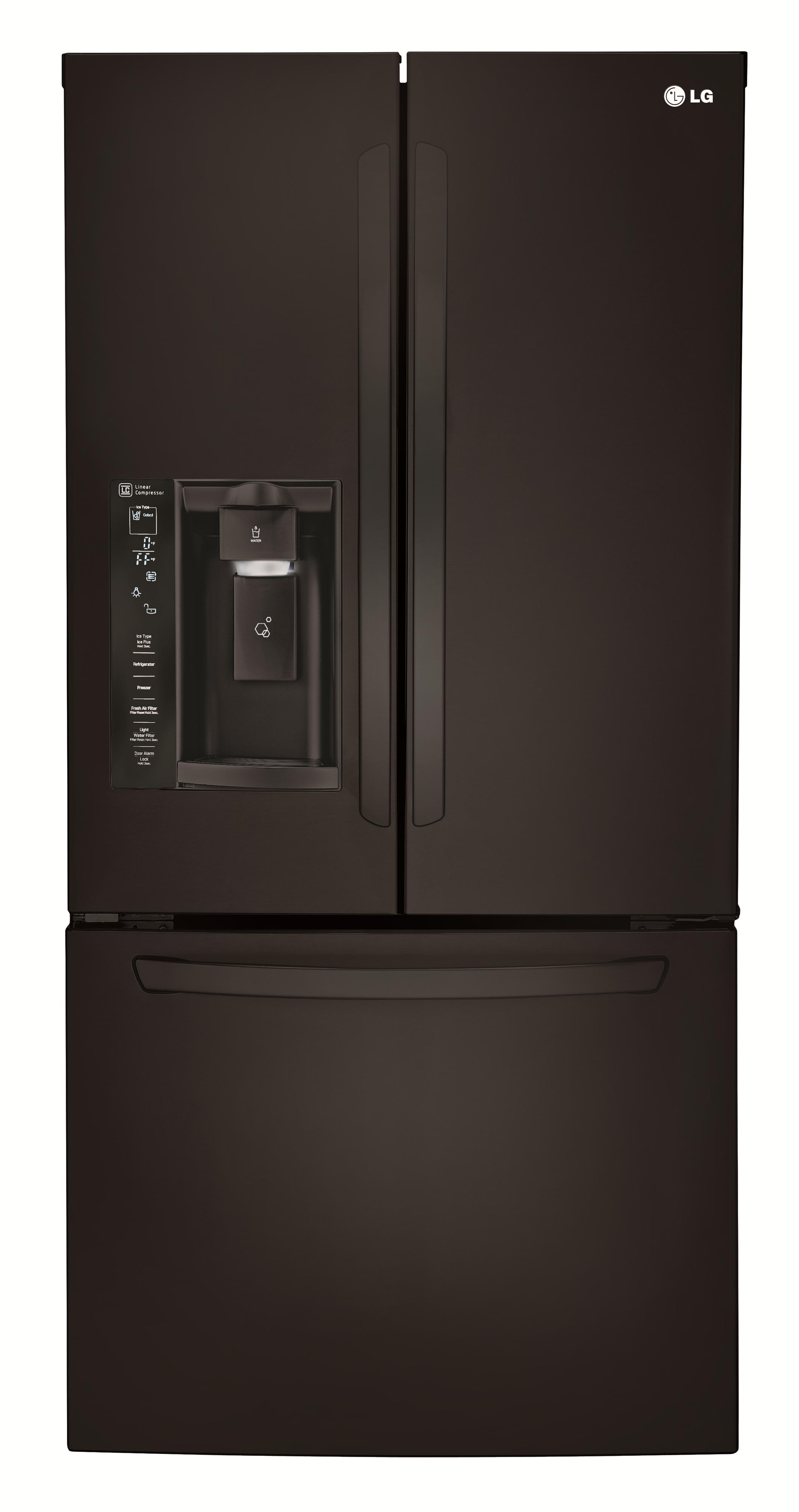 LG Appliances French Door Refrigerators 24.2 Cu. Ft. 3 Door French Door Fridge - Item Number: LFXS24623B