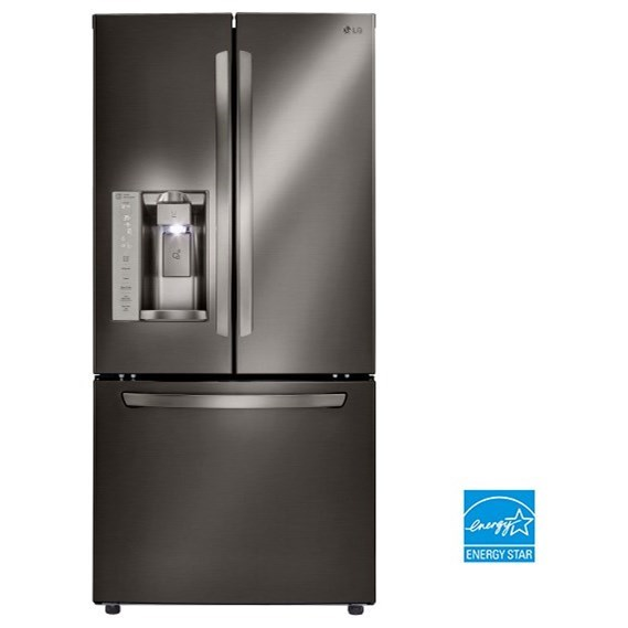 LG Appliances French Door Refrigerators 24.2. Cu.Ft. 3-Door French Door Refrigerator - Item Number: LFXS24623D