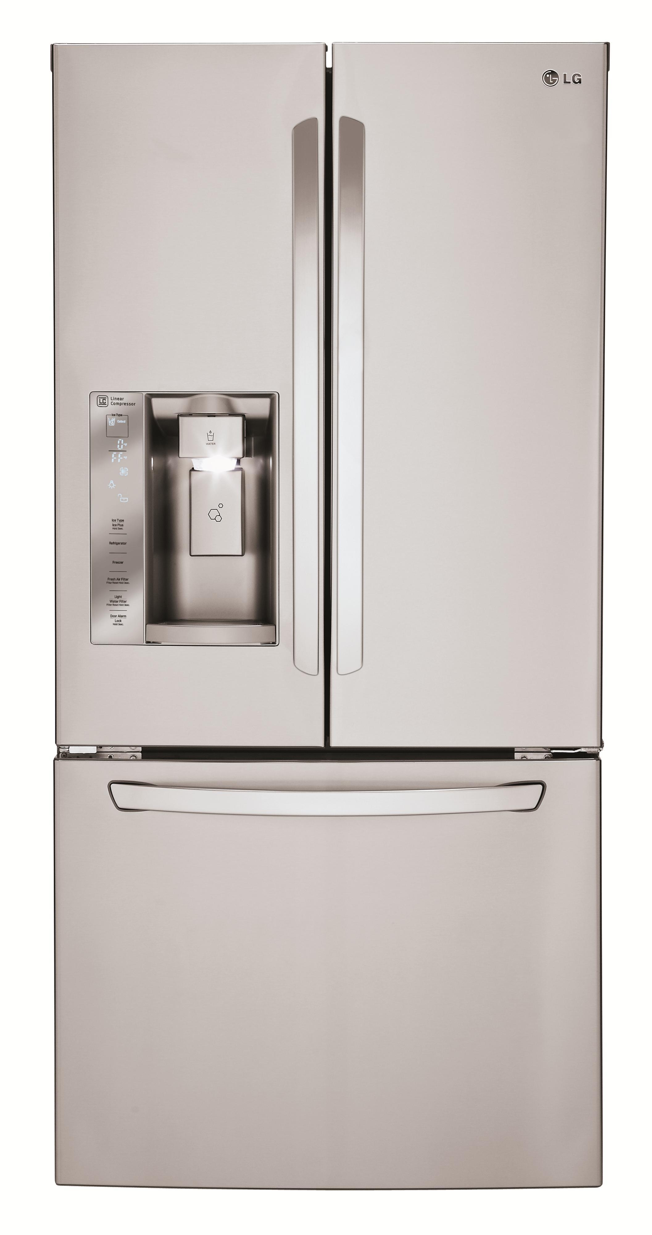 LG Appliances French Door Refrigerators 24.2 Cu. Ft. 3 Door French Door Fridge - Item Number: LFXS24623S