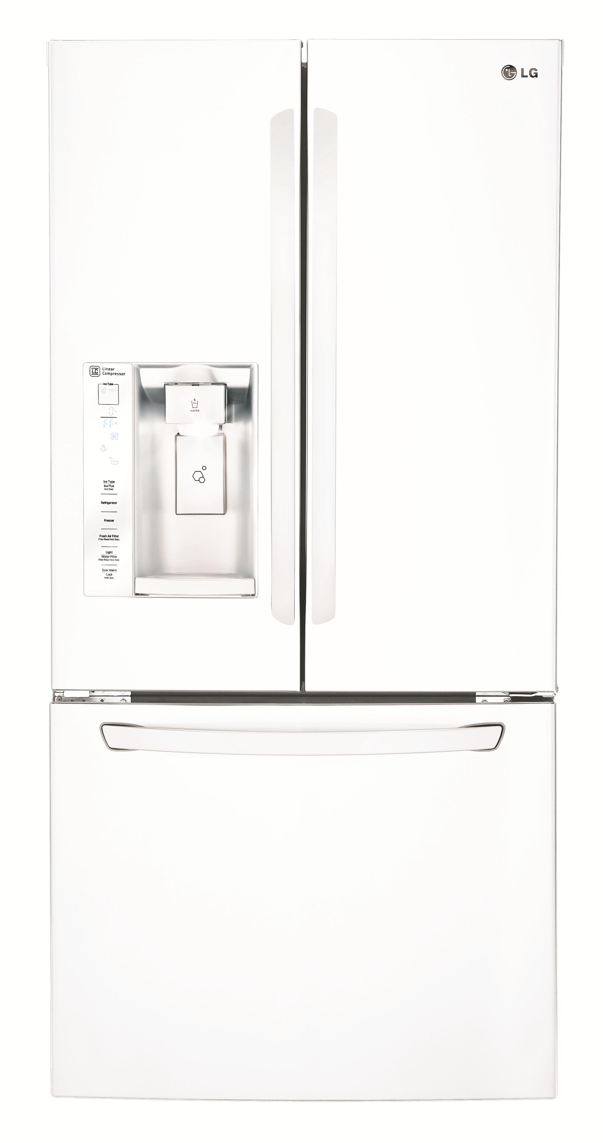 LG Appliances French Door Refrigerators 24.2 Cu. Ft. 3 Door French Door Fridge - Item Number: LFXS24623W