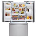 LG Appliances French Door Refrigerators 24 cu. ft. Large Capacity 3-Door French Door Refrigerator