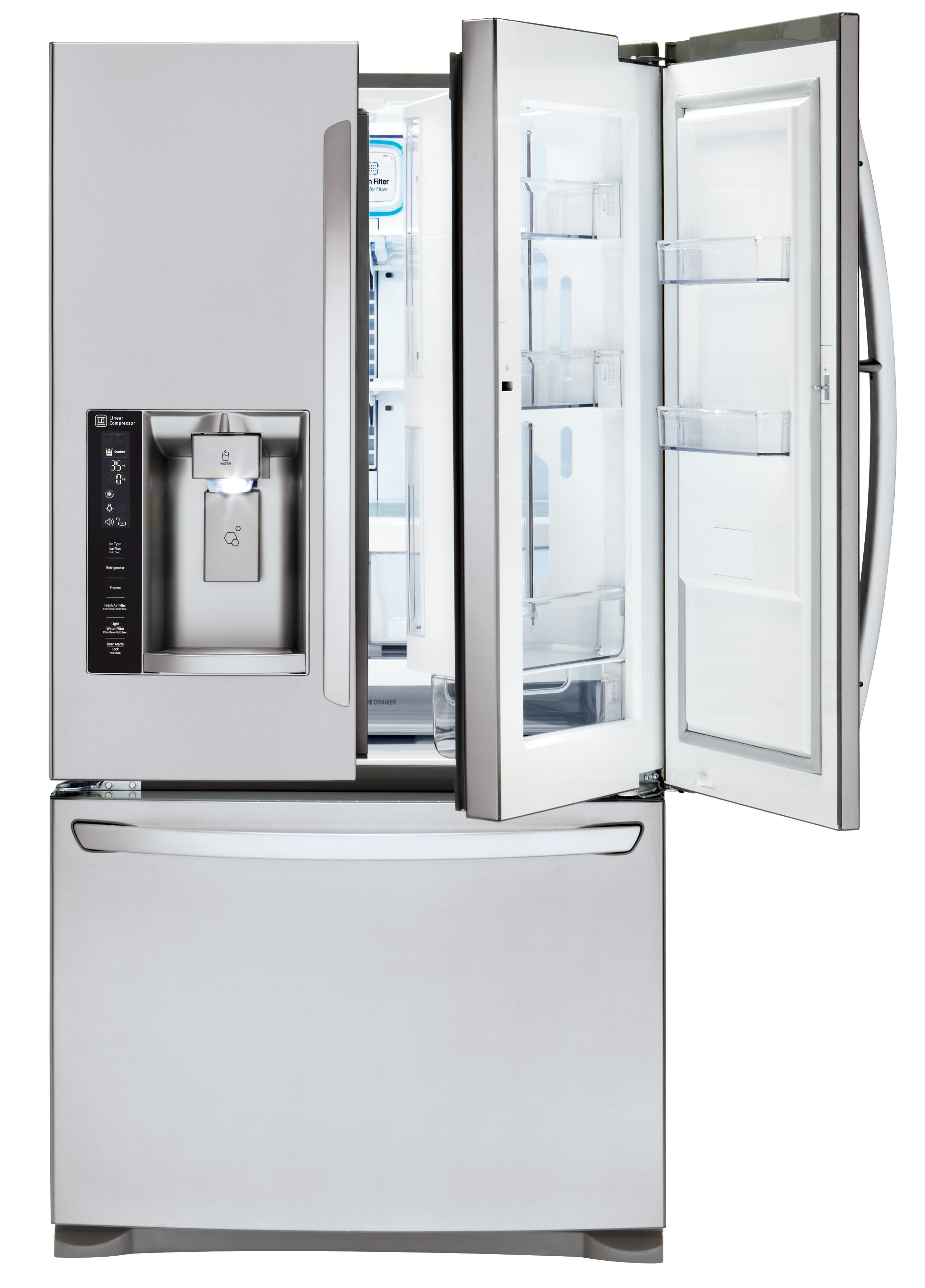 LG Appliances French Door Refrigerators 27 Cu. Ft. 3 Door French Door Fridge - Item Number: LFXS27566S