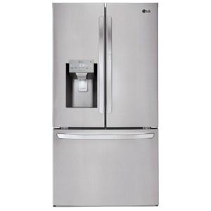 LG Appliances French Door Refrigerators 28 cu.ft. Wi-Fi Enabled Door-in-Door? Fridge