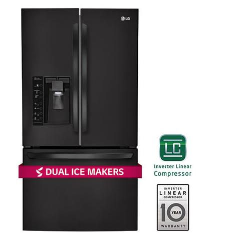 LG Appliances French Door Refrigerators 29 Cu. Ft. 3 Door French Door Fridge - Item Number: LFXS29626B