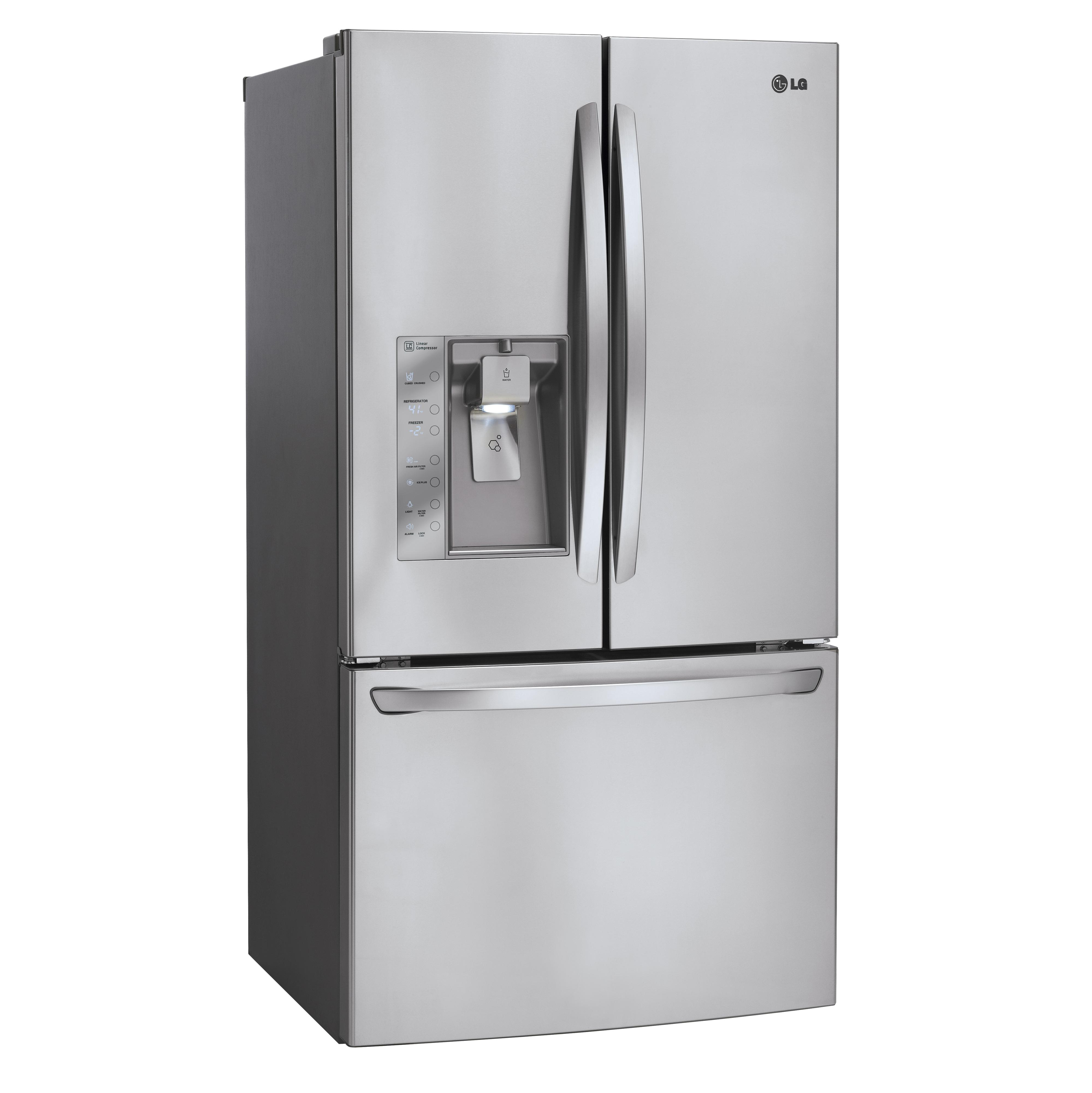 LG Appliances French Door Refrigerators 29 Cu. Ft. 3 Door French Door Fridge - Item Number: LFXS29626S