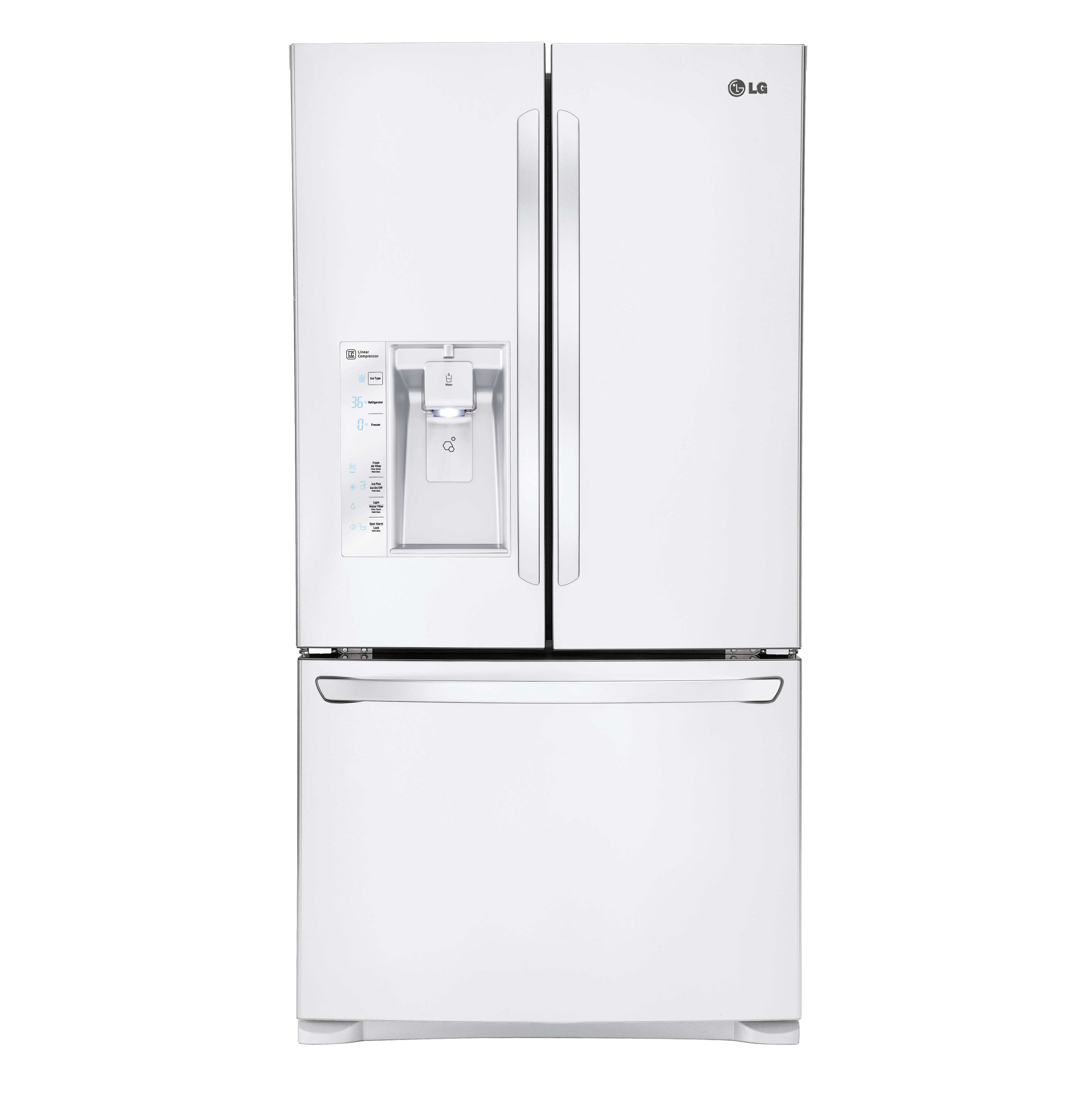 LG Appliances French Door Refrigerators 29 Cu. Ft. 3 Door French Door Fridge - Item Number: LFXS29626W