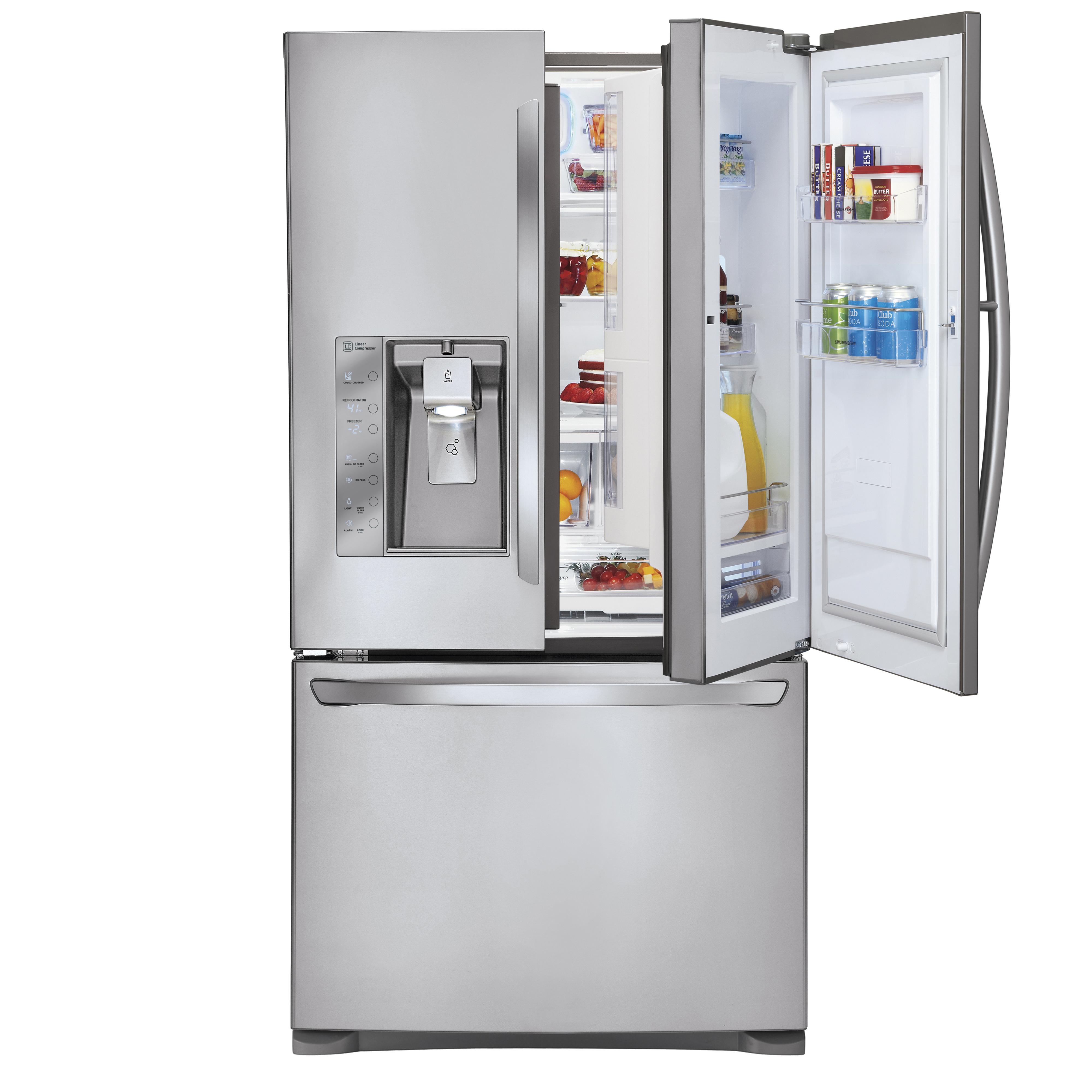 LG Appliances French Door Refrigerators 29 Cu. Ft. 3 Door French Door Fridge - Item Number: LFXS29766S