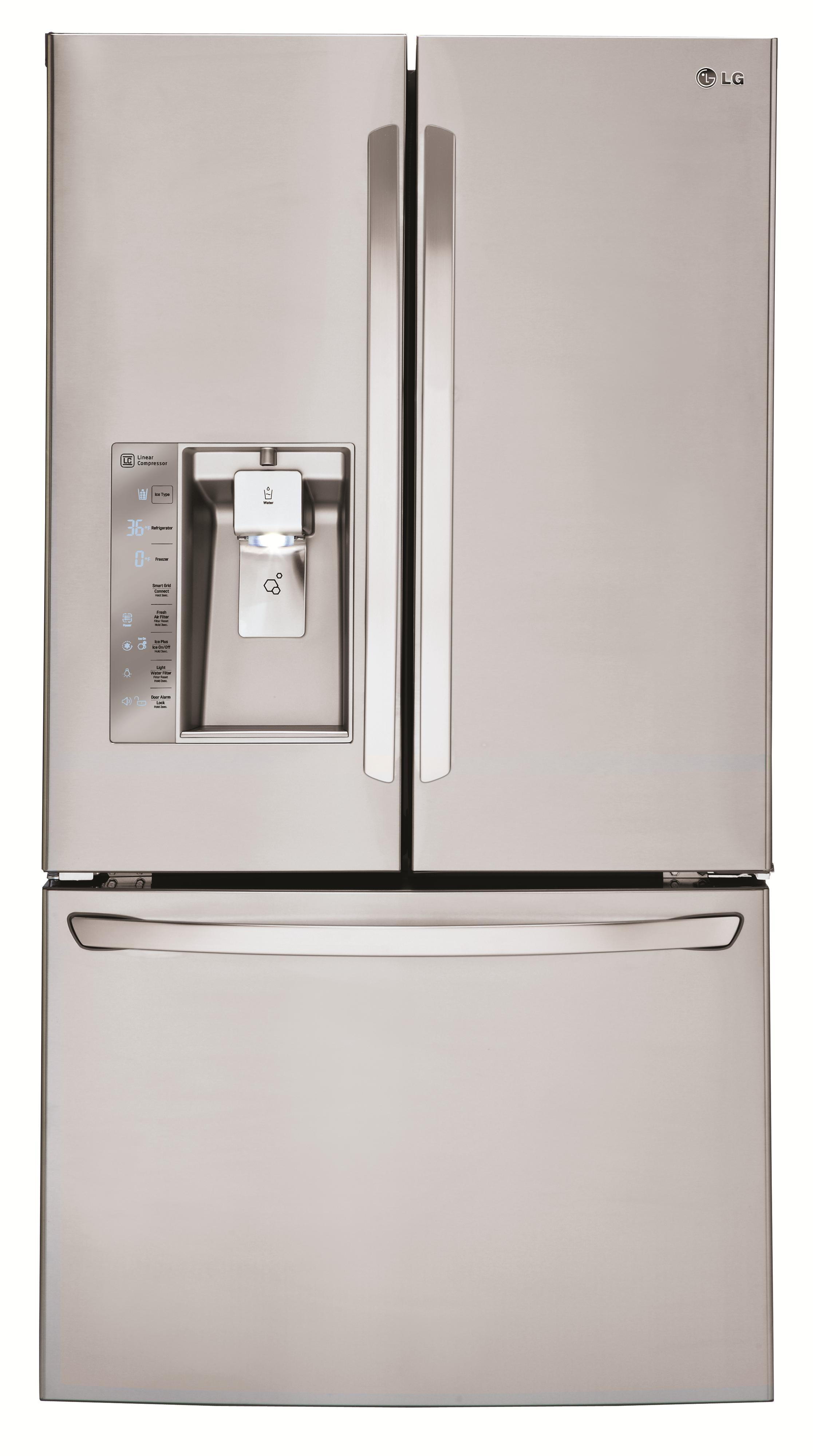 LG Appliances French Door Refrigerators 30 Cu. Ft. 3 Door French Door Fridge - Item Number: LFXS30726S