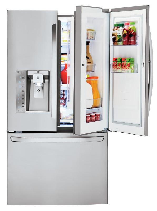 LG Appliances French Door Refrigerators 30 Cu. Ft. 3 Door French Door Fridge - Item Number: LFXS30766S