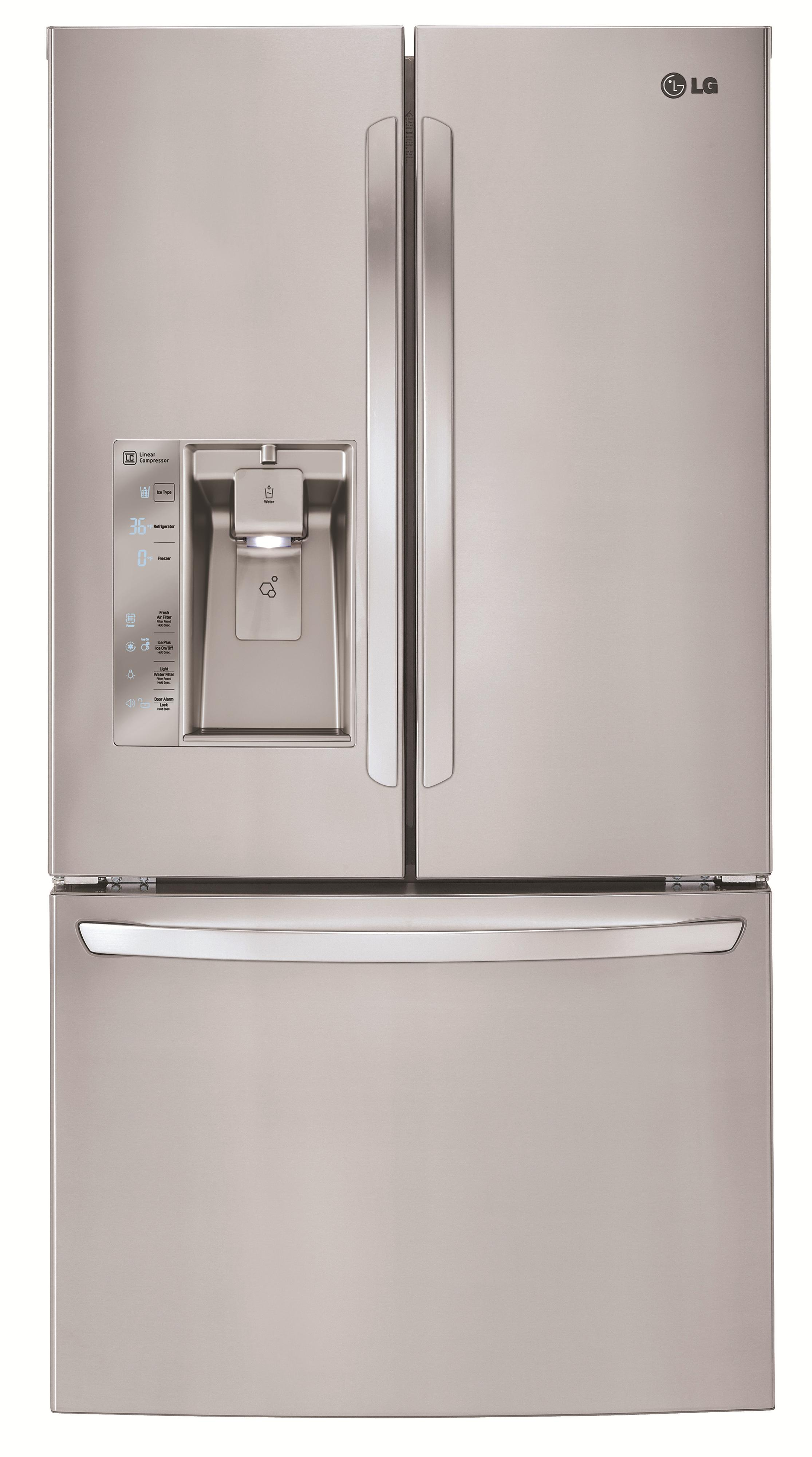 LG Appliances French Door Refrigerators 32 Cu. Ft. 3 Door French Door Fridge - Item Number: LFXS32726S