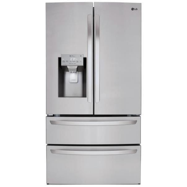French Door Refrigerators 28 cu.ft. Capacity 4-Door French Door Fridge by LG Appliances at Furniture Fair - North Carolina