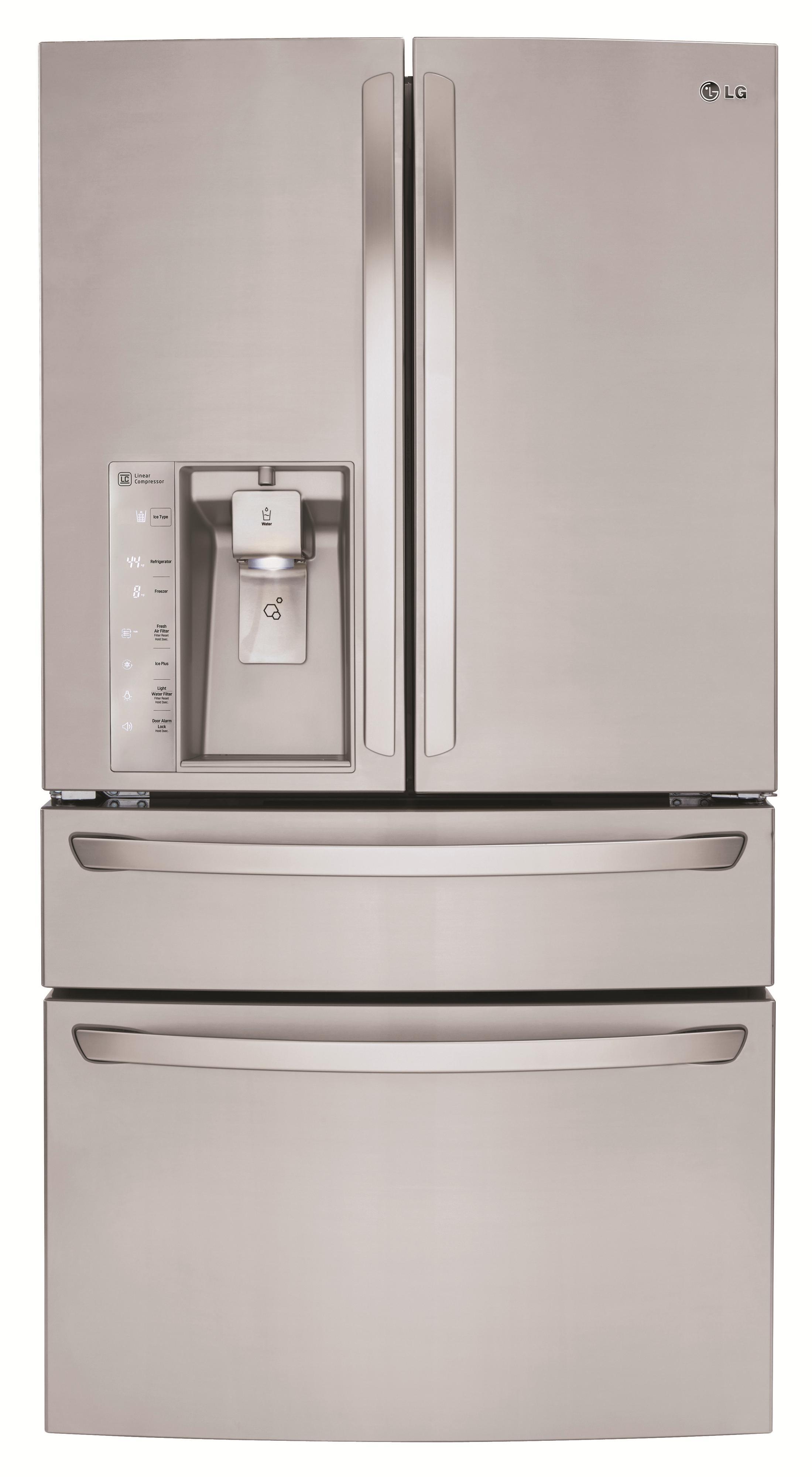 LG Appliances French Door Refrigerators 30 cu. ft. 4 Door French Door Fridge - Item Number: LMXS30746S
