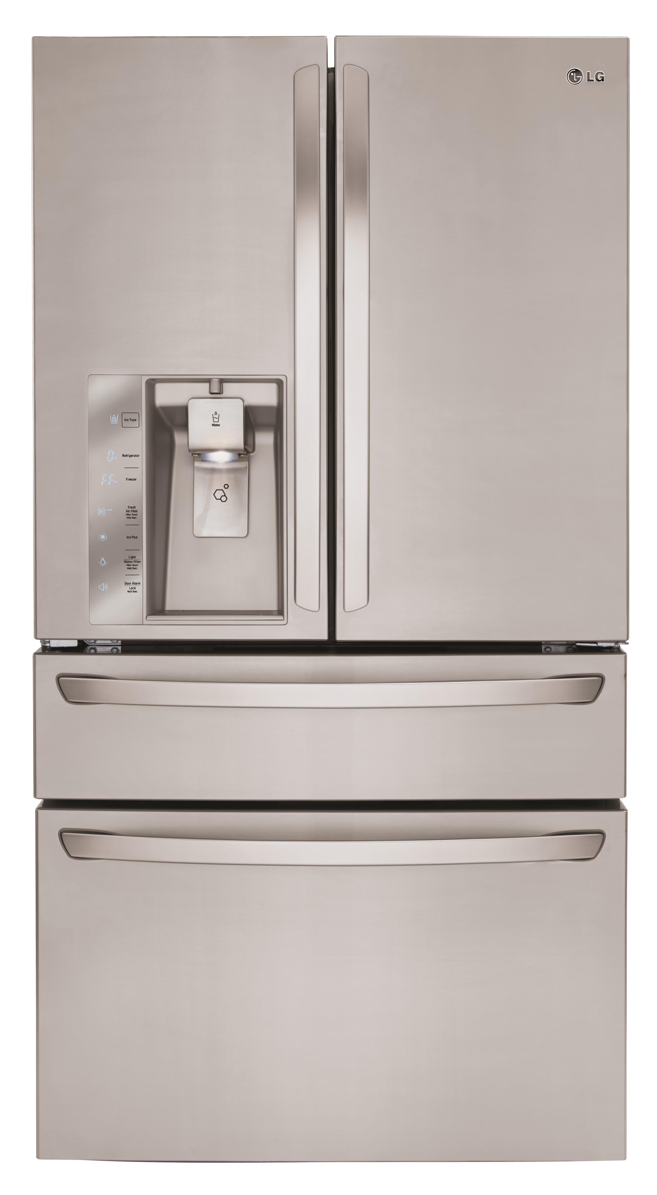 LG Appliances French Door Refrigerators 30 Cu. Ft. French Door Refrigerator - Item Number: LMXS30756S