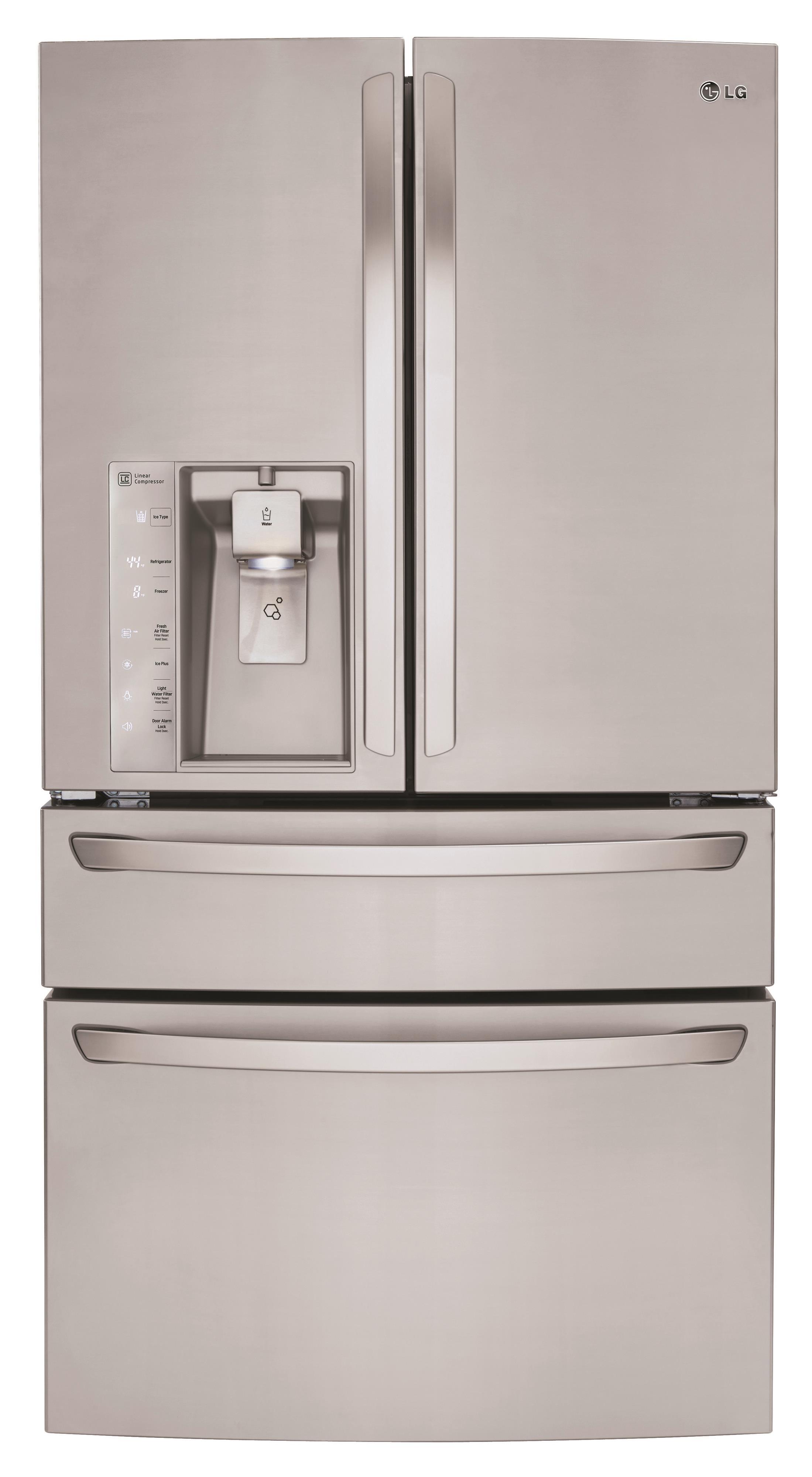 LG Appliances French Door Refrigerators 30 Cu. Ft. 4-Door French Door Refrigerator - Item Number: LMXS30786S