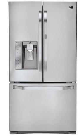 LG Appliances French Door Refrigerators 24 cu. ft. French Door Refrigerator - Item Number: LSFD2491ST