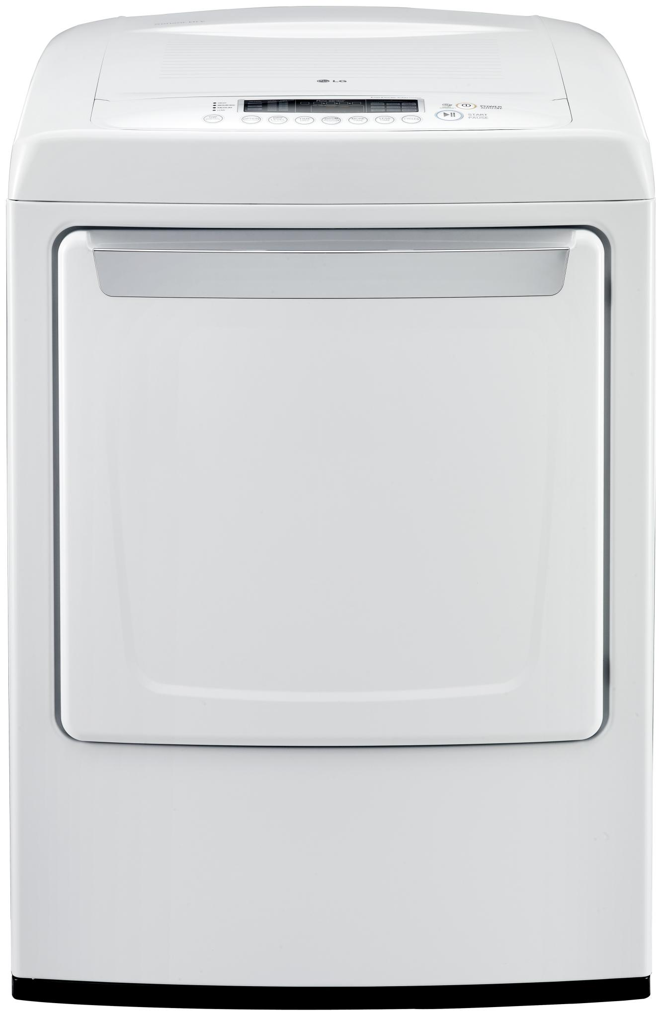 LG Appliances Gas Dryers 7.3 Cu. Ft. Front-Load Gas Dryer - Item Number: DLG1102W
