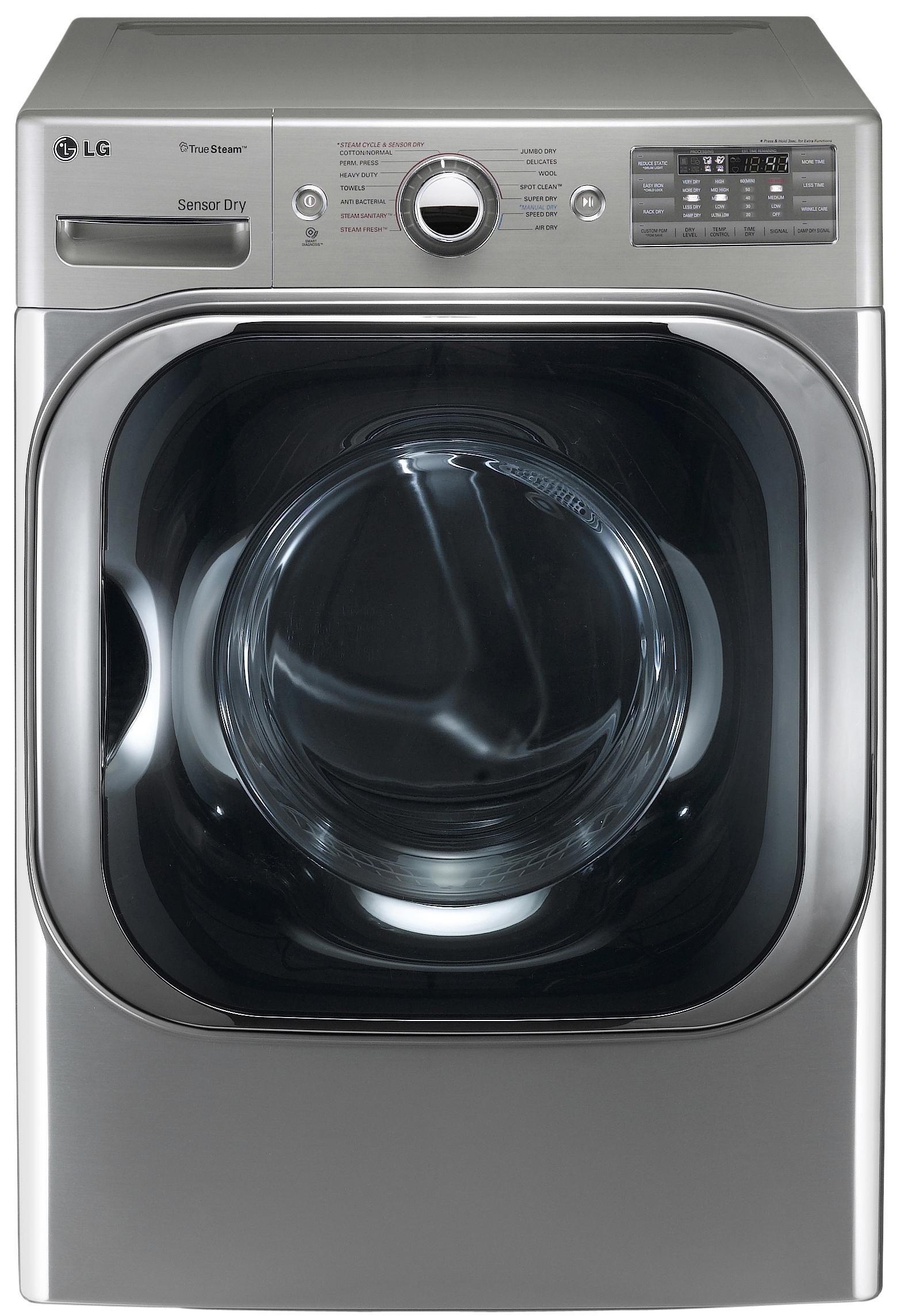LG Appliances Gas Dryers 9.0 Cu. Ft. Front-Load Gas Dryer - Item Number: DLGX8001V