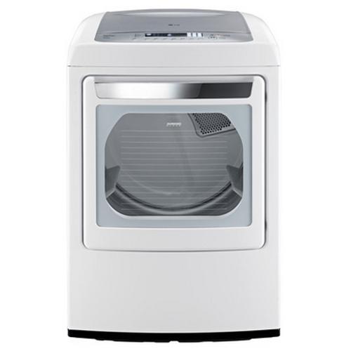 LG Appliances Gas Dryers 7.3 Cu. Ft. Front-Load Gas Dryer - Item Number: DLGY1202W