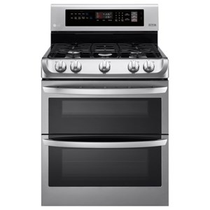 LG Appliances Gas Ranges 6.9 cu. ft. Gas Double Oven Convection Range