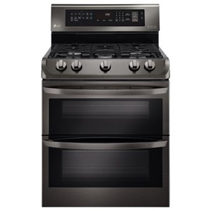 LG Appliances Gas Ranges 6.9 cu. ft. Gas Double Oven Range