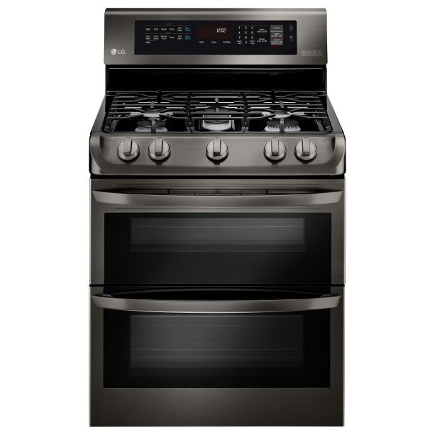 LG Appliances Gas Ranges 6.9 Cu. Ft. Gas Double Oven Range - Item Number: LDG4315BD