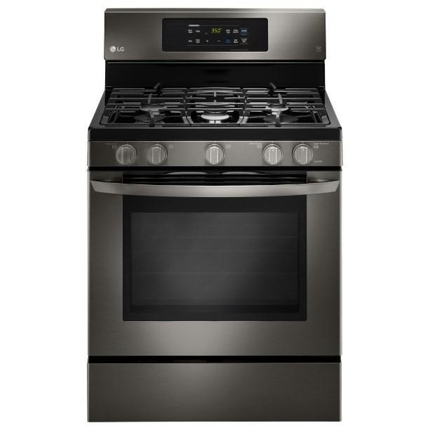 LG Appliances Gas Ranges 5.4 cu.ft. Capacity Gas Single Oven Range - Item Number: LRG3081BD