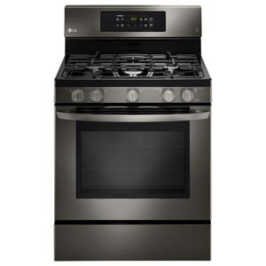 LG Appliances Gas Ranges 5.4 cu.ft. Capacity Gas Single Oven Range