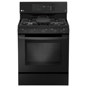 LG Appliances G Free 5.4 cu. ft. Capacity Gas Single Oven Range