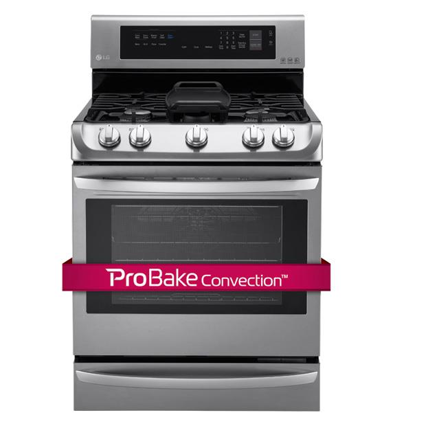 LG Appliances Gas Ranges 6.3 Cu. Ft. Gas Single Oven Range - Item Number: LRG4115ST