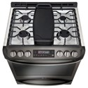 LG Appliances Gas Ranges- LG 6.3 cu. ft. Gas Slide-in Range with ProBake Convection™ and EasyClean®