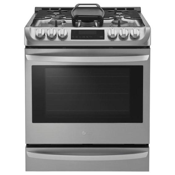 LG Appliances Gas Ranges 6.3 cu. ft. Gas Slide-in Range - Item Number: LSG4513ST