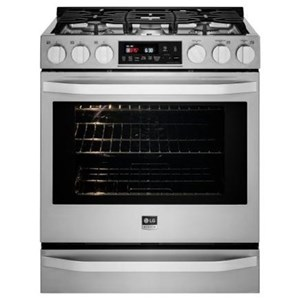 LG Appliances Gas Ranges LG Studio - 6.3 Cu. Ft. Gas Slide-in Range